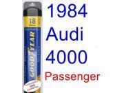 1984 Audi 4000 Wiper Blade (Passenger) (Goodyear Wiper Blades-Assurance)