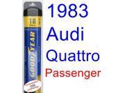 1983 Audi Quattro Wiper Blade (Passenger) (Goodyear Wiper Blades-Assurance)