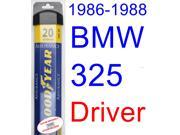 1986-1988 BMW 325 Wiper Blade (Driver) (Goodyear Wiper Blades-Assurance) (1987)