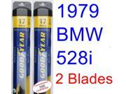 1979 BMW 528i Replacement Wiper Blade Set/Kit (Set of 2 Blades) (Goodyear Wiper Blades-Assurance)