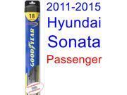 2011-2015 Hyundai Sonata Wiper Blade (Passenger) (Goodyear Wiper Blades-Hybrid) (2012,2013,2014)
