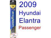 2009 Hyundai Elantra Touring Wiper Blade (Passenger) (Goodyear Wiper Blades-Hybrid)