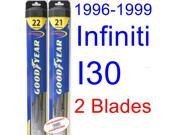 1996-1999 Infiniti I30 Replacement Wiper Blade Set/Kit (Set of 2 Blades) (Goodyear Wiper Blades-Hybrid) (1997,1998)