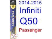 2014-2015 Infiniti Q50 Wiper Blade (Passenger) (Goodyear Wiper Blades-Hybrid)