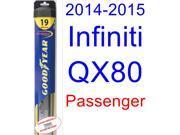 2014-2015 Infiniti QX80 Wiper Blade (Passenger) (Goodyear Wiper Blades-Hybrid)