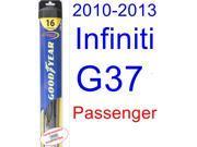 2010-2013 Infiniti G37 Sedan Wiper Blade (Passenger) (Goodyear Wiper Blades-Hybrid) (2011,2012)