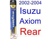 2002-2004 Isuzu Axiom Wiper Blade (Rear) (Goodyear Wiper Blades-Hybrid) (2003)