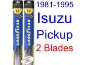 1981-1995 Isuzu Pickup Replacement Wiper Blade Set/Kit (Set of 2 Blades) (Goodyear Wiper Blades-Hybrid) (1982,1983,1984,1985,1986,1987,1988,1989,1990,1991,1992,