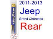 2011-2013 Jeep Grand Cherokee Wiper Blade (Rear) (Goodyear Wiper Blades-Hybrid) (2012)