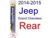 2014-2015 Jeep Grand Cherokee Wiper Blade (Rear) (Goodyear Wiper Blades-Hybrid)