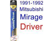1991-1992 Mitsubishi Mirage Wiper Blade (Driver) (Goodyear Wiper Blades-Hybrid)