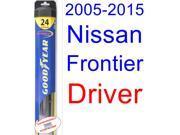 2005-2015 Nissan Frontier Wiper Blade (Driver) (Goodyear Wiper Blades-Hybrid) (2006,2007,2008,2009,2010,2011,2012,2013,2014) 9SIA89T36Y7425