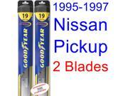 1995-1997 Nissan Pickup Replacement Wiper Blade Set/Kit (Set of 2 Blades) (Goodyear Wiper Blades-Hybrid) (1996)