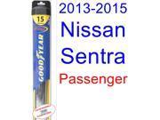 2013-2015 Nissan Sentra Wiper Blade (Passenger) (Goodyear Wiper Blades-Hybrid) (2014)