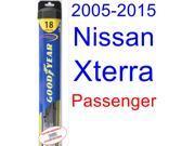 2005-2015 Nissan Xterra Wiper Blade (Passenger) (Goodyear Wiper Blades-Hybrid) (2006,2007,2008,2009,2010,2011,2012,2013,2014)