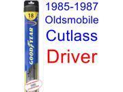 1985-1987 Oldsmobile Cutlass Wiper Blade (Driver) (Goodyear Wiper Blades-Hybrid) (1986)