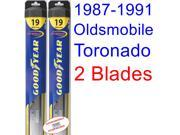 1987-1991 Oldsmobile Toronado Trofeo Replacement Wiper Blade Set/Kit (Set of 2 Blades) (Goodyear Wiper Blades-Hybrid) (1988,1989,1990)