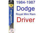 1984-1987 Dodge Royal Mini Ram Wiper Blade (Driver) (Goodyear Wiper Blades-Hybrid) (1985,1986)
