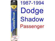1987-1994 Dodge Shadow Wiper Blade (Passenger) (Goodyear Wiper Blades-Hybrid) (1988,1989,1990,1991,1992,1993)