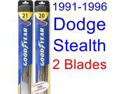 1991-1996 Dodge Stealth Replacement Wiper Blade Set/Kit (Set of 2 Blades) (Goodyear Wiper Blades-Hybrid) (1992,1993,1994,1995)