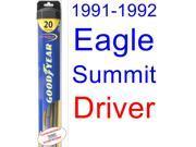 1991-1992 Eagle Summit Wiper Blade (Driver) (Goodyear Wiper Blades-Hybrid)