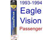 1993-1994 Eagle Vision Wiper Blade (Passenger) (Goodyear Wiper Blades-Hybrid)