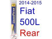2014-2015 Fiat 500L Wiper Blade (Rear) (Goodyear Wiper Blades-Hybrid)