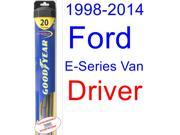 1998-2014 Ford E-Series Van Wiper Blade (Driver) (Goodyear Wiper Blades-Hybrid) (1999,2000,2001,2002,2003,2004,2005,2006,2007,2008,2009,2010,2011,2012,2013) 9SIA89T36Y7484