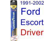 1991-2002 Ford Escort Wiper Blade (Driver) (Goodyear Wiper Blades-Hybrid) (1992,1993,1994,1995,1996,1997,1998,1999,2000,2001)