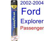 2002-2004 Ford Explorer Wiper Blade (Passenger) (Goodyear Wiper Blades-Hybrid) (2003)