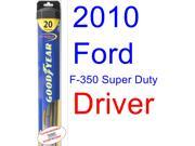 2010 Ford F-350 Super Duty Wiper Blade (Driver) (Goodyear Wiper Blades-Hybrid)