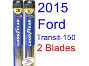2015 Ford Transit-150 XL Replacement Wiper Blade Set/Kit (Set of 2 Blades) (Goodyear Wiper Blades-Hybrid)