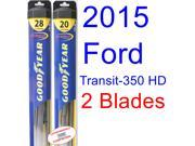 2015 Ford Transit-350 HD XLT Replacement Wiper Blade Set/Kit (Set of 2 Blades) (Goodyear Wiper Blades-Hybrid)