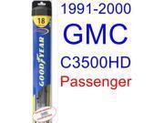 1991-2000 GMC C3500HD Wiper Blade (Passenger) (Goodyear Wiper Blades-Hybrid) (1992,1993,1994,1995,1996,1997,1998,1999)