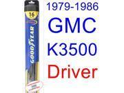 1979-1986 GMC K3500 Wiper Blade (Driver) (Goodyear Wiper Blades-Hybrid) (1980,1981,1982,1983,1984,1985)