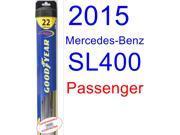 2015 Mercedes-Benz SL400 Wiper Blade (Passenger) (Goodyear Wiper Blades-Hybrid)