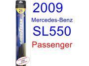2009 Mercedes-Benz SL550 Wiper Blade (Passenger) (Goodyear Wiper Blades-Hybrid)