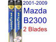 2001-2009 Mazda B2300 Replacement Wiper Blade Set/Kit (Set of 2 Blades) (Goodyear Wiper Blades-Hybrid) (2002,2003,2004,2005,2006,2007,2008)
