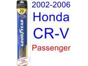 2002-2006 Honda CR-V Wiper Blade (Passenger) (Goodyear Wiper Blades-Hybrid) (2003,2004,2005)