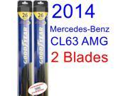 2014 Mercedes-Benz CL63 AMG Base Replacement Wiper Blade Set/Kit (Set of 2 Blades) (Goodyear Wiper Blades-Hybrid)
