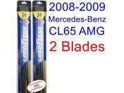 2008-2009 Mercedes-Benz CL65 AMG Base Replacement Wiper Blade Set/Kit (Set of 2 Blades) (Goodyear Wiper Blades-Hybrid)