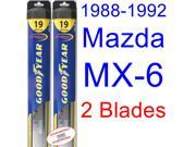 1988-1992 Mazda MX-6 Replacement Wiper Blade Set/Kit (Set of 2 Blades) (Goodyear Wiper Blades-Hybrid) (1989,1990,1991)