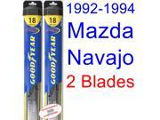 1992-1994 Mazda Navajo Replacement Wiper Blade Set/Kit (Set of 2 Blades) (Goodyear Wiper Blades-Hybrid) (1993)