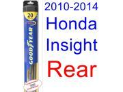 2010-2014 Honda Insight Wiper Blade (Rear) (Goodyear Wiper Blades-Hybrid) (2011,2012,2013)