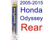 2005-2015 Honda Odyssey Wiper Blade (Rear) (Goodyear Wiper Blades-Hybrid) (2006,2007,2008,2009,2010,2011,2012,2013,2014)