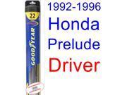1992-1996 Honda Prelude Wiper Blade (Driver) (Goodyear Wiper Blades-Hybrid) (1993,1994,1995)