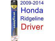 2009-2014 Honda Ridgeline Wiper Blade (Driver) (Goodyear Wiper Blades-Hybrid) (2010,2011,2012,2013)