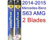 2014-2015 Mercedes-Benz S63 AMG Base Replacement Wiper Blade Set/Kit (Set of 2 Blades) (Goodyear Wiper Blades-Hybrid)