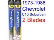 1973-1986 Chevrolet C10 Suburban Replacement Wiper Blade Set/Kit (Set of 2 Blades) (Goodyear Wiper Blades-Hybrid) (1974,1975,1976,1977,1978,1979,1980,1981,1982,