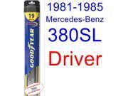 1981-1985 Mercedes-Benz 380SL Wiper Blade (Driver) (Goodyear Wiper Blades-Hybrid) (1982,1983,1984)